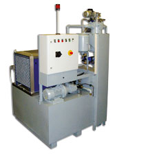 Filter system for turning machines
